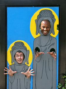 Robby and I at the Daibutsu in Ushiku City, Japan