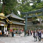 A view of the main Nikko Toshogu's main courtyard