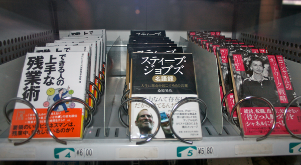 Here it is. A look inside of a book vending machine.