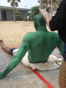 More green paint...