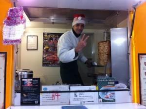 Ali's Kebab Worker