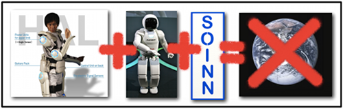 What do you get when you add Cyberdyne's HAL strength suit, Honda's Asimo, and the new Soinn algorithm?